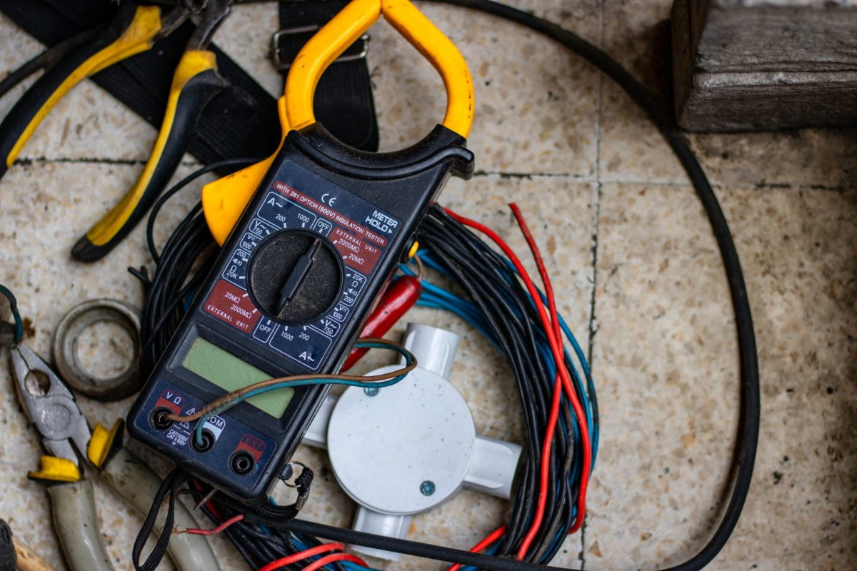 Photo of electrical tools and wiring